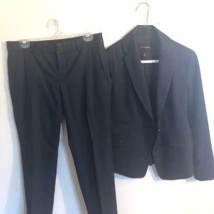 2 piece business suit-navy blue